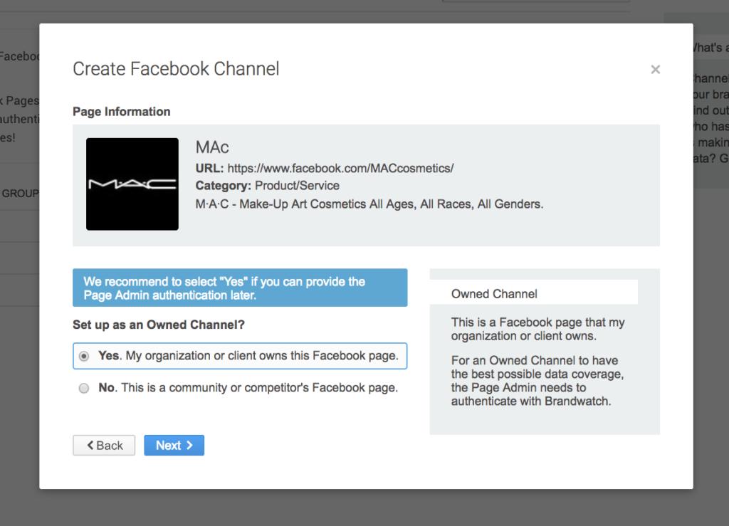 Facebook Channel in Brandwatch Analytics aufsetzen